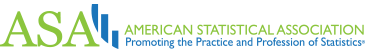 American Statisticla Association logo: Promoting the Practice and Profession of Statistics